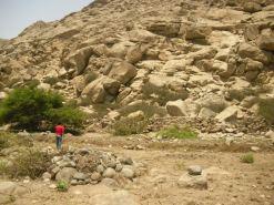 .....una vista del camino inca, obras extraordinarias....
