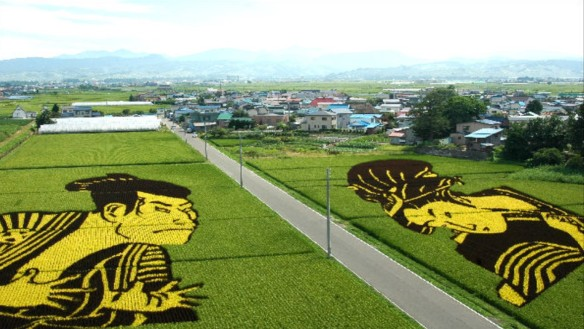 Arte en japones en tambo (tierra arrozal)