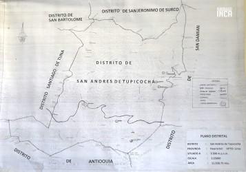 Mapa de ubicación de San Andrés de Tupicocha