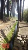 Una vista del acueducto de Achaco, con un dren principal de una profundidad promedio de 1.50.....