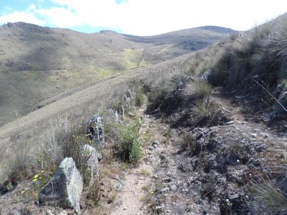 Figura 33. Sector del canal caracterizado por la disposición de piedras planas hacia el interior.