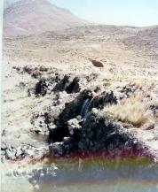 Vista de perfil de la presa Collpa, año 2003