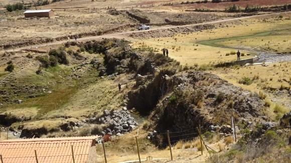 Vista de perfil de la presa Collpa, año 2016