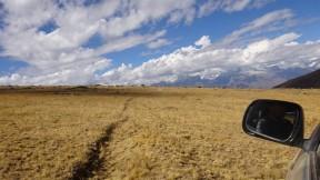 Marca de lo que fueron zanjas de infiltración del antiguo proyecto Cordillera Negra