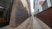 Muro Inca cercana a la Iglesia Santa Clara