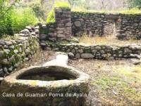 Casa del cronista Guaman Poma de Ayala en el distrito de Sondondo, en estado de abandono