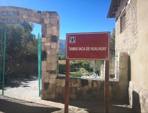 Tambo Inka de Hualhuay en Aucará